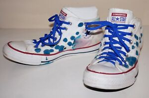 CONVERSE Chuck Taylor ALL STAR Blue Inked White Canvas MADISON MID Sneakers US 9