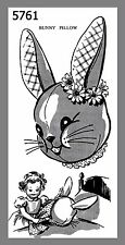 Cute Vintage Mail Order Children's Bunny Pillow Sewing Transfer Pattern # 5761