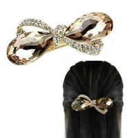 Fashion Crystal Oval Bowknot Headwear Hair Clip Clamp Hairpin