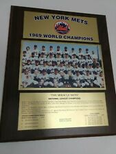 "New York Mets 1969 World Champions Plaque. ""The Miracle Mets"""