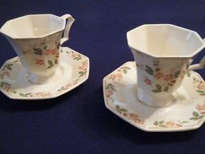 NIKKO, CLASSIC COLLECTION, TWO CUPS & SAUCERS