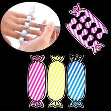 1 Pair Soft Sponge Foam Finger Toe Separators Candy Shape Nail Art Tool Random