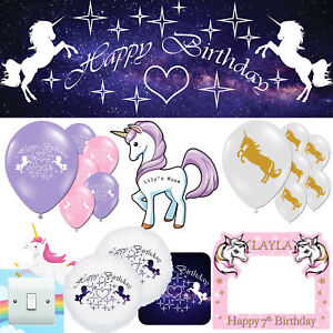 Unicorn Happy Birthday Little Pony Children's Decorations Bedroom Party Listing