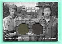 Abraham Ford Eugene Porter Walking Dead Evolution Dual Black & White Relic #6/10