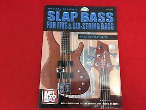 Mel Bay - Slap Bass For Five and Six-String Bass - Chris Matheos - With CD -