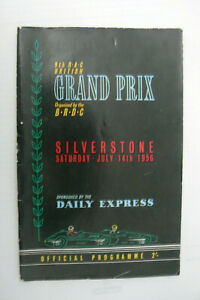 1956 BRITISH GRAND PRIX MOTOR RACING PROGRAMME, FANGIO, MOSS, BRABHAM