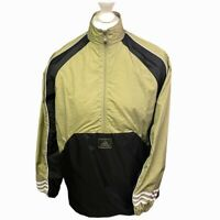 Vintage 90's Adidas Half Zip Pullover Wind Breaker Jacket - Medium - Green Black