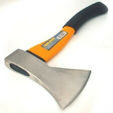 FIBREGLASS HANDLED WOOD AXE - Hand Hatchet Kindling Firewood Log Chopper Handle