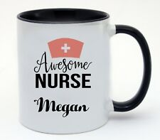 Personalised Add a Name Awesome Nurse Coffee Cup Mug Birthday Gift Present Idea