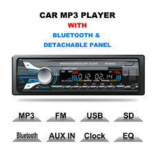 Car Stereo Audio 1 DIN In-Dash FM Aux Input Receiver SD USB MP3 Radio Bluetooth