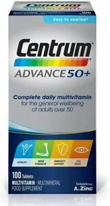Centrum Advance 50+ Multivitamin Tablets - Pack of 100 - Free P&P - 02/2022 Exp