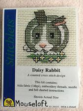Mouseloft stitchlets CROSS STITCH KIT ~ DAISY CONIGLIO ~ NUOVO