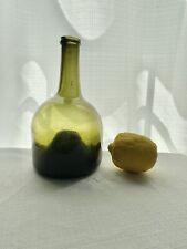 Antique Freeblown Pontil Black Glass Continental Mallet/Bell Wine Cylinder 18thC