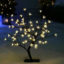Modern 24 LED Cherry Blossom/Roses Bonsai Tree Fairy Twig Lights Table Lamp 40cm
