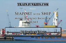 """TrainJunkies N Scale  Seaport with Ship 12x80""""  C-10 Brand New"""