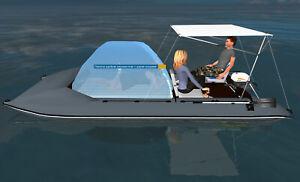 KATAMARAN HAUSBOOT Bootzelt HAUS ZELT auf dem Wasser Schlauchboot Angelboot Boot