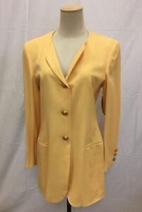 ESCADA Sun Yellow Womens Pantsuit  36 Jacket 38 Pants 100% Wool NWT