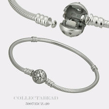"Authentic Pandora New Sterling Silver Starry Sky Clasp 7.9"" Bracelet 590735CZ-20"