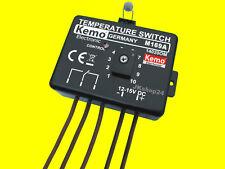 KEMO M169A Temperaturschalter 12V THERMOSTAT SCHALTER SENSOR | Relais 25V/5A NEU