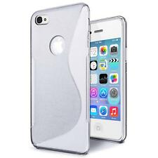 Handy Tasche für iPhone 4 4S Silikon Hülle Ultra Slim Cover Schutz Hülle Case