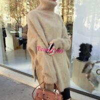 women mink cashmere turtleneck sweater Winter Warm thickening Tops Outwear Chic#
