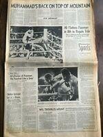 1974 Muhammad Ali beats George Foreman Rumble in Jungle  LA Times Newspaper