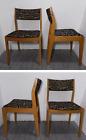 Vintage Set of 4 D-SCAN Mid Century Modern Sculptural Teak Wood Dining Chairs