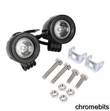 2 piezas redondo 10w LED Luz de trabajo Niebla Foco 12v 24v BArco ATV MOTO