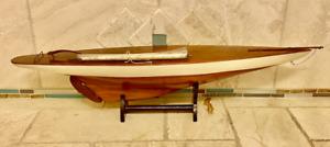 "Vintage Model Ship Sailboat Pond Yacht 37"""