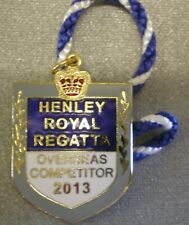 More details for henley royal regatta enamel badge rowing overseas competitor 2013
