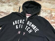 Abercrombie & Fitch Women's Dark Blue Zip Hoodie Jumper Size M