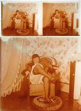 Stereo photo on glass erotic nu feminin 1900 - 1920/672 nude risque