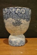 ROYAL DOULTON LARGE DOUBLE SIDED EGG CUP BLUE DAISY CIRCA 1907