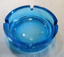 Cendrier  en verre turquoise  - traces d'usage – petits éclats