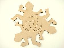 Set of 3 pcs. M. C. Escher inspired interlocking tiles Lizard from Veneered MDF
