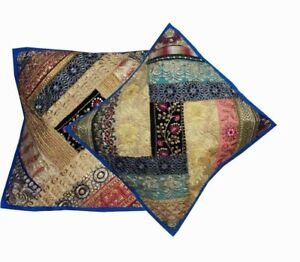 """33% OFF 16""""-2 ETHNIC SQUN HOME DECOR PATCHWORK FLOOR THROW CUSHION PILLOW COVERS"""