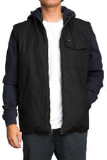 "NEW + TAG RVCA MENS ""BREAKER PUFF"" (S) HOODED JACKET JUMPER HOODIE COAT INDIGO"