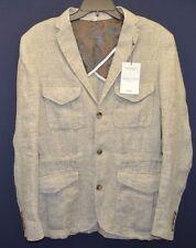 Murano Baird McNutt Linen 3 Button Blazer Sport Coat Taupe Jacket Men S M L XL