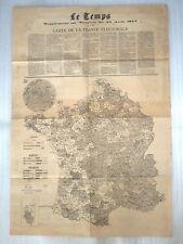 ANCIENNE CARTE - PLAN DE LA FRANCE ELECTORALE 1877 / REPUBLIQUE EMPIRE MONARCHIE