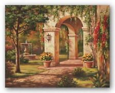 Arch Courtyard I Sung Kim Asian Art Print 28x22