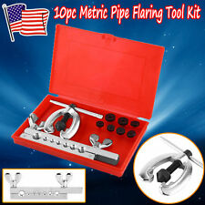 10Pc Brake & Air Line Double Flaring Tool Kit Set Tool Automotive Repair Flare