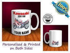 Kawasaki ZZR1100 Motorbike Personalised Ceramic Mug Gift (MB083)