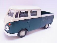 LOT 27622   Welly VW T1 Double Cabin Pick up grün Modellauto m. Antrieb 1:40 Neu