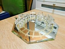 Swarovski Train set with Glass Mirror Track
