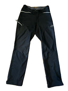 Gore Bike Wear Pants Black Zipper Size Large Button Wind Stopper