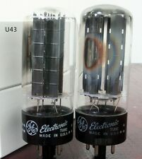 U43 Match 1 pair GE 5U4GB BLACK PLATED TUBES FOR AMPLIFIER 5U4G U52 274A