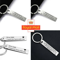 Drive Safe Keyring Love Couple Husband Boyfriend Girlfriend Xmas Gift Key Ring