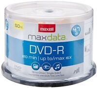 Maxell 638011 Dvd-R 4.7gb Write-Once 16x Recordabl Digital Recording Media