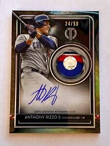 2020 Topps Tribute ANTHONY RIZZO Auto Patch Card 24/50  Cubs