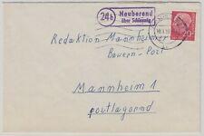 26801) Neuberend über Schleswig 1959 Landpoststempel auf Brief